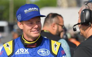 Subaru's Patrik Sandell led all drivers in open practice and qualified first overall among the ARX teams after winning the first and third qualifying sessions outright and finishing second in Q4.