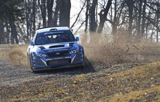 David Higgins and codriver Craig Drew 100 Acre Wood Rally 2014