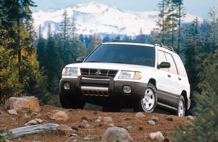 "Forester Production: 1998-Present   Based on the Impreza chassis with the 2.5-liter BOXER engine from the Legacy and Outback models   The original trim levels were standard, L, and S Forester came standard with roof rails   Ground Clearance was 7.5"" Subaru advertising employed the slogan ""Sport Utility Tough, Car Easy"""
