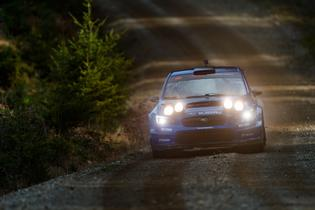 The majority of stages at the Southern Ohio Forest Rally will be held in the dark. Teams will have custom mounted made pods installed on the cars for the duration of the rally to allow them to attack the night at maximum pace.