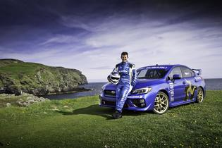 All new 2015 Subaru WRX STI sets new record at the Isle fo Man TT Course. (06/2014)
