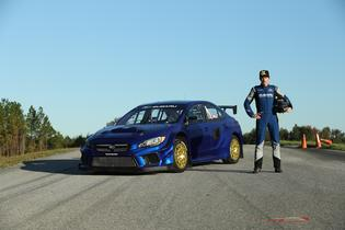 Scott Speed will pilot a Vermont SportsCar-developed Subaru WRX STI VT19x Supercar in the new blue and gold livery of Subaru Motorsports.