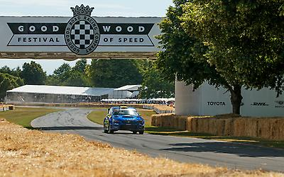 The Gymkhana 2020 STI will receive its competition debut at the Goodwood Festival of Speed Hillclimb Shootout, where it will race up the legendary 1.16 mile hill.
