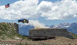 The signature element of the Nitro Rallycross circuit remains its tri-level main jump complex, highlighted by a massive central gap jump of nearly 100 feet.