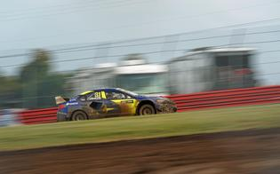 Joni Wiman, in only his second event with Subaru, showed serious pace in qualifying first overall.