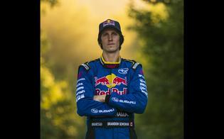 Brandon Semenuk, driver of the #180 Subaru WRX STI.