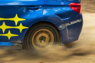 The blue and gold WRX STI's won four of the rally's nine stages over the course of the weekend.