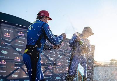 The 1-2 finish is Subaru's best-ever result in Nitro Rallycross as the series expands from one-off events in 2018 and 2019 into a full five-round series for 2021.