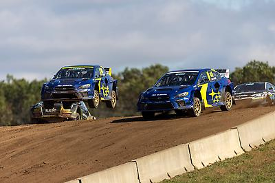Bakkerud made the best move of the heats, diving down the inside of Turn 1 to move up from sixth on the starting grid to second behind his teammate and sending all three Subarus through to the front two rows of the final.