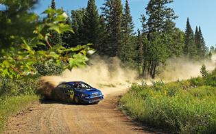 Pastrana, coming off a strong performance at the previous weekend's Nitro Rallycross event, had to adjust quickly to the fast, flowing roads of Ojibwe Forests Rally.