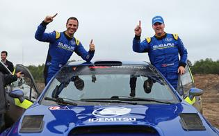 Subaru Motorsports USA driver David Higgins earned his tenth U.S. rally title at this weekend's Lake Superior Performance Rally (LSPR).