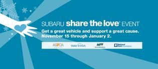 By the end of this, our 11th year, Subaru and its retailers will have donated over $140 million through the Subaru Share the Love Event to charities like the ASPCA, Make-A-Wish, Meals on Wheels, the National Park Foundation, and over 1,170 hometown charities.