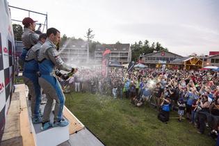 Subaru Rally Team USA finishes 1 and 2 at New England Forest Rally. Photo Credit: Ben Haulenbeek / Subaru Rally Team USA