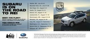 Subaru and REI Encourage Adventure Seekers