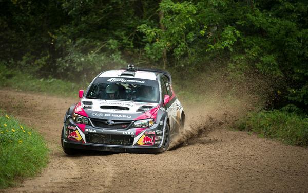 Subaru Driver David Higgins Storms to Ojibwe Forest Rally Victory