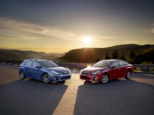 2015 4-door and 5-door Imprezas