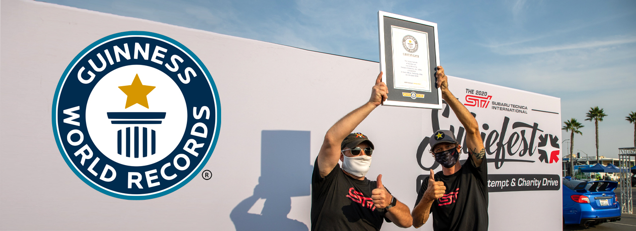 SUBARU BREAKS GUINNESS WORLD RECORDS™ TITLE FOR THE LARGEST PARADE OF SUBARU CARS