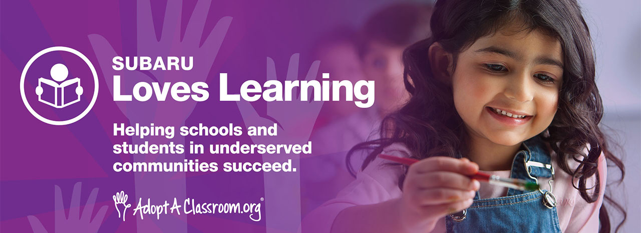 SUBARU OF AMERICA SUPPORTS STUDENTS NATIONWIDE WITH ADOPTACLASSROOM.ORG PARTNERSHIP<br />