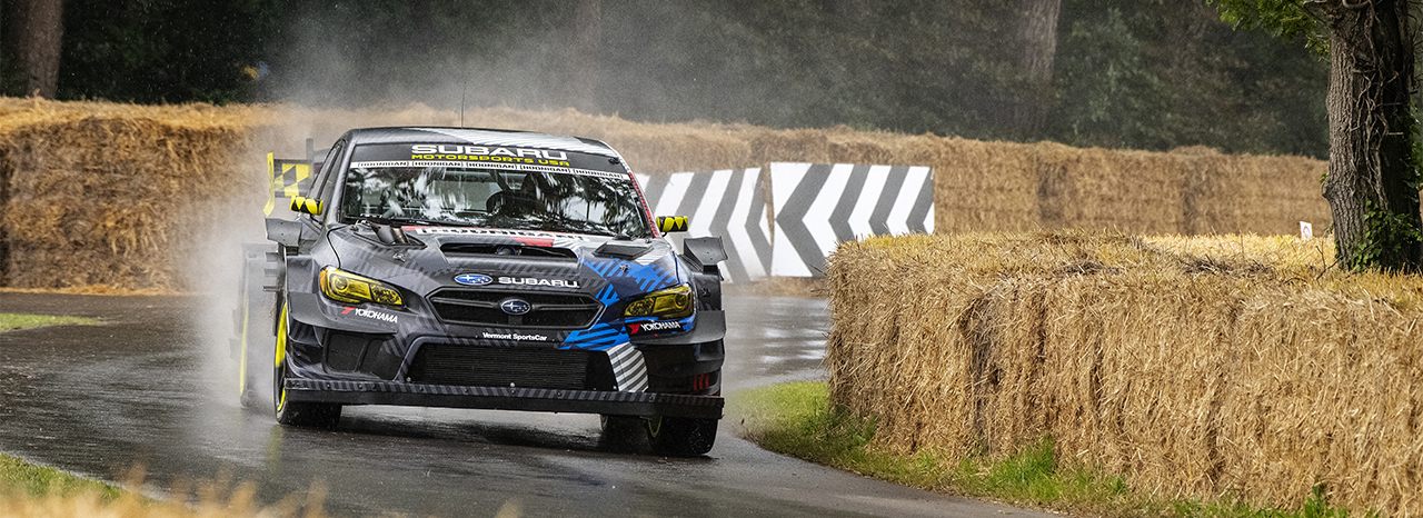 SUBARU AND TRAVIS PASTRANA SECURE SECOND OVERALL AT GOODWOOD FESTIVAL OF SPEED HILLCLIMB SHOOTOUT<br />