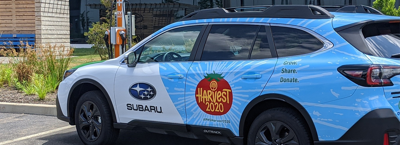 SUBARU OF AMERICA SPONSORS PENNSYLVANIA HORTICULTURAL SOCIETY'S HARVEST 2020 HUNGER RELIEF INITIATIVE