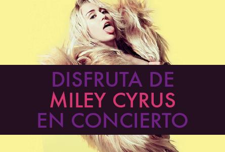 Asiste al concierto de Miley Cyrus