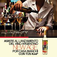 Fiesta de lanzamiento del vino New Age