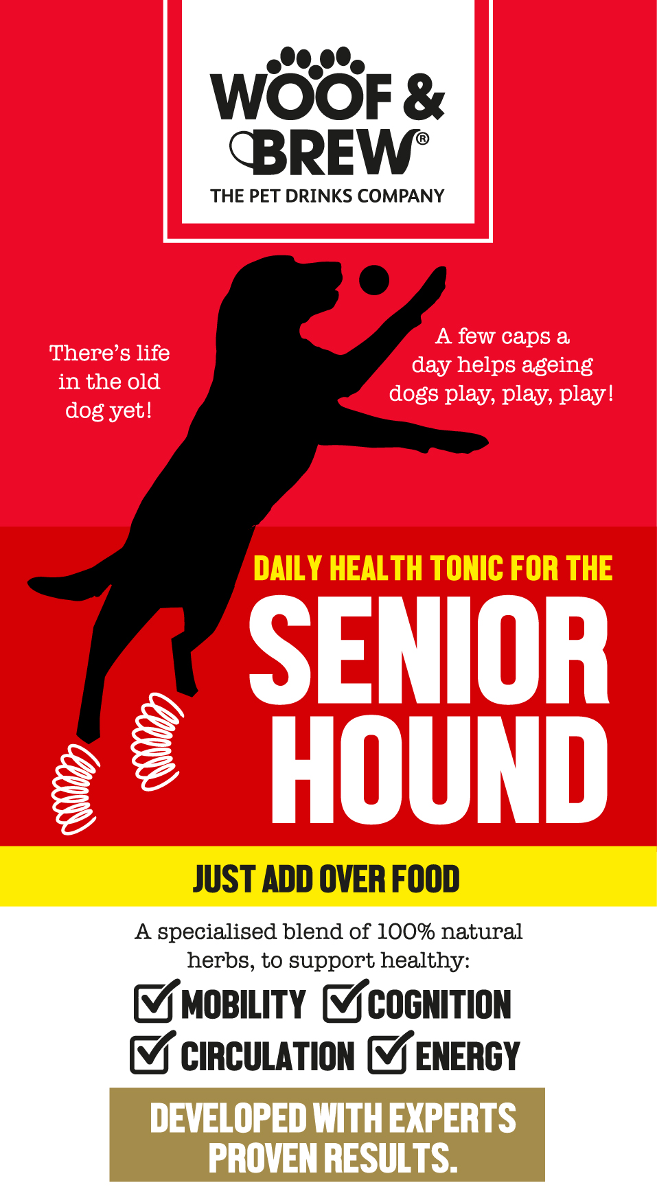 Senior Hound Tonic for Dogs that weigh between 12 and 30 kilos