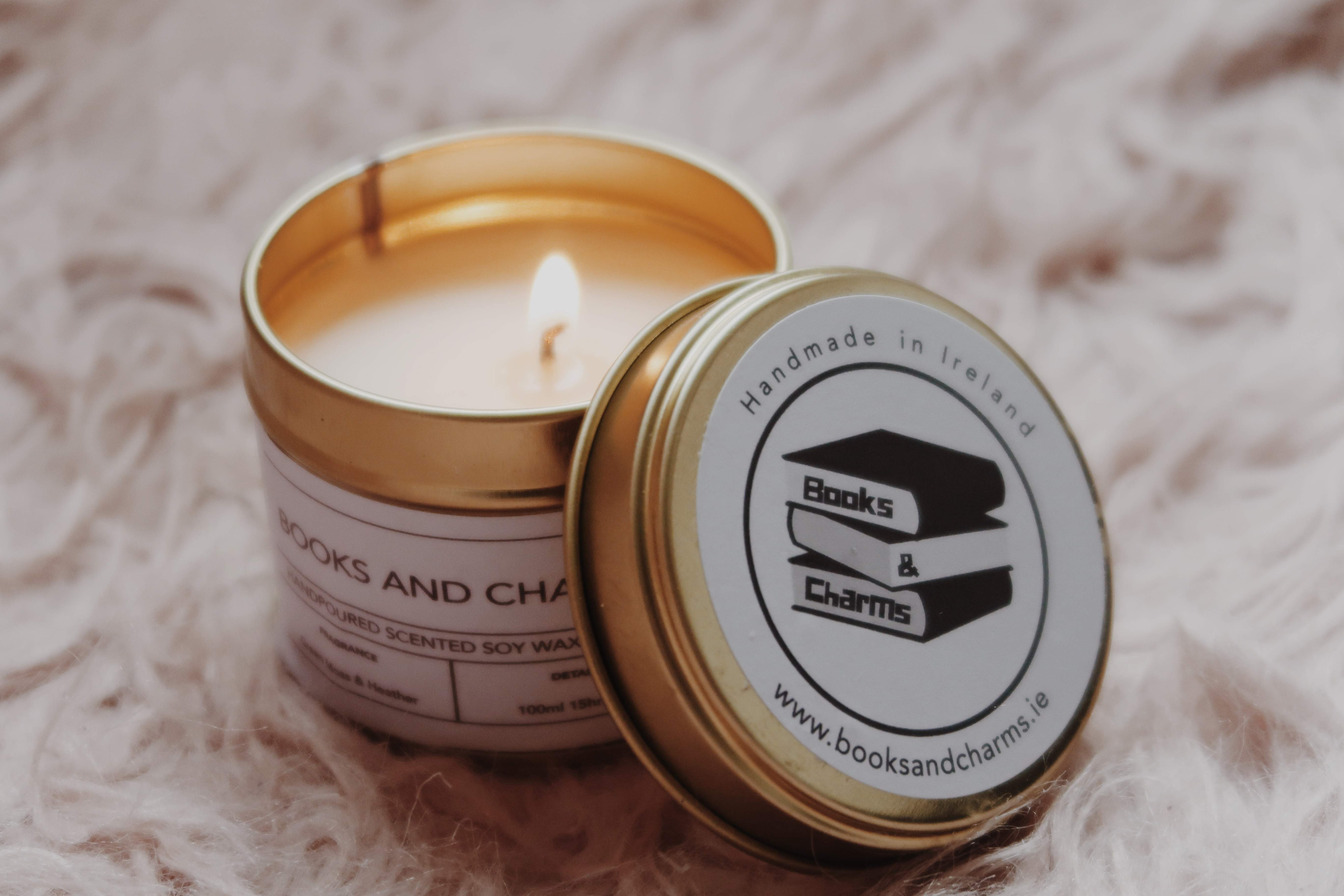 Books and Charms Candle