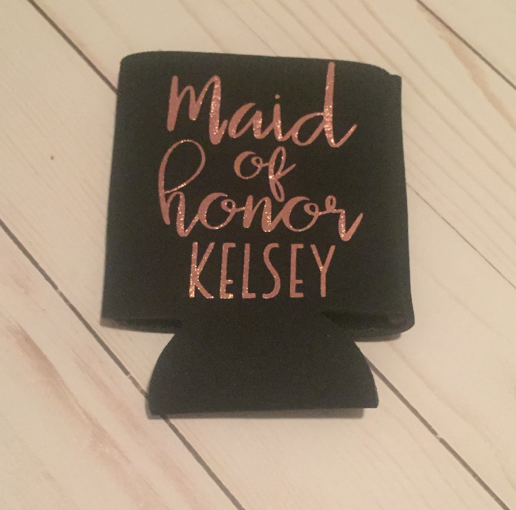 Custom Maid of Honor Can Cooler