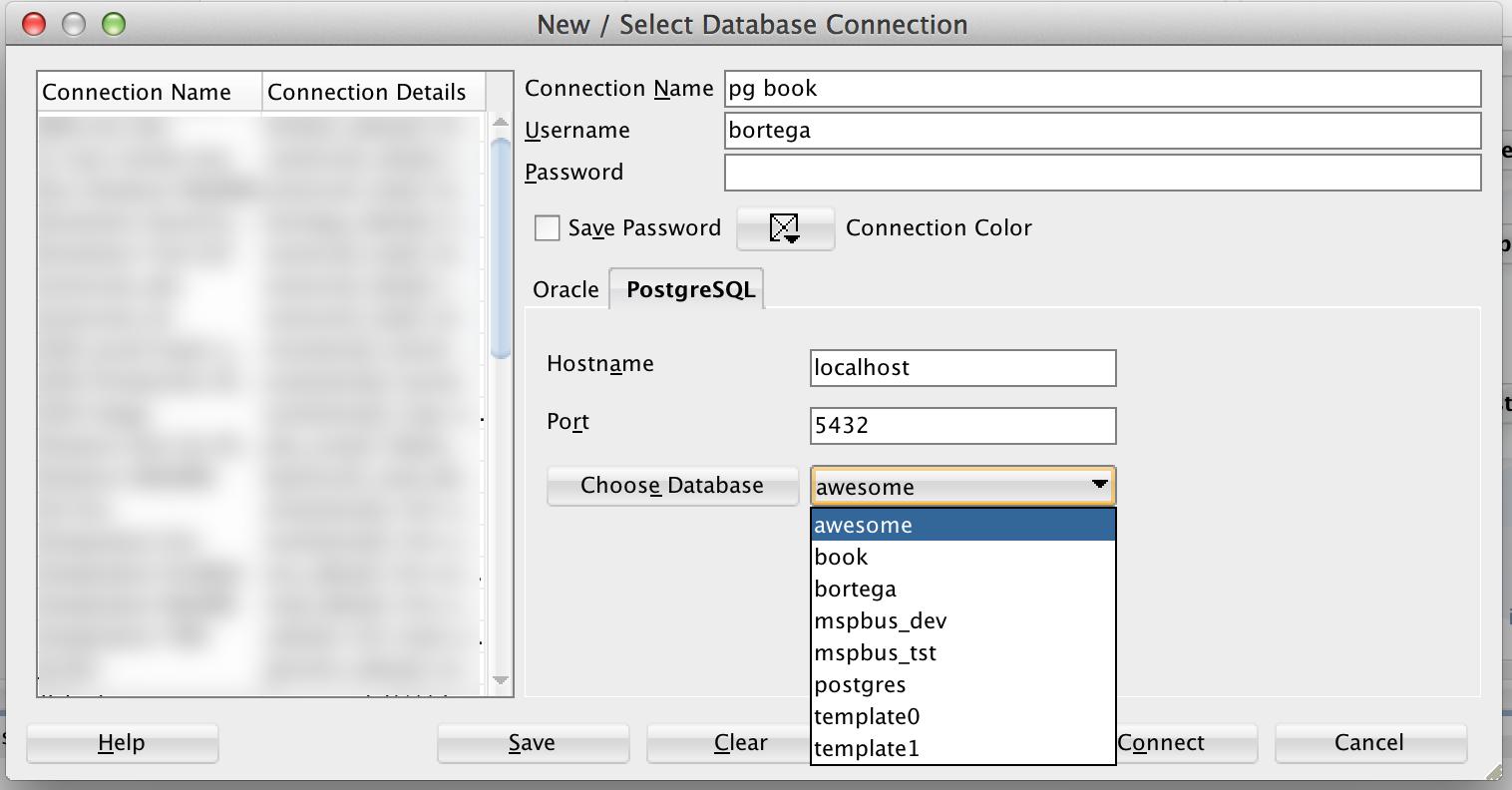 Oracle SQL Developer and PostgreSQL