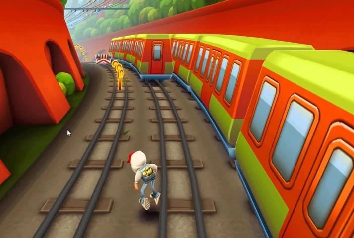 Subway Surfers Game Screenshot