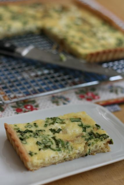 Chive and Goat Cheese Quiche (and Second Podcast!)