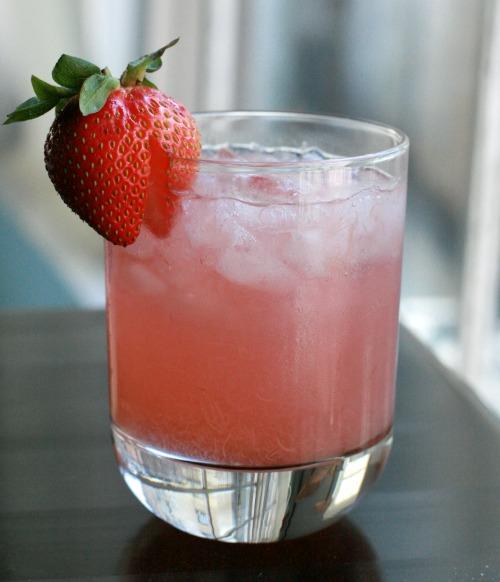 fresh rhubarb cocktail