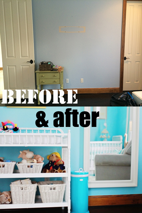 nursery before & after
