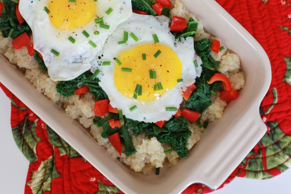 baked quinoa and eggs