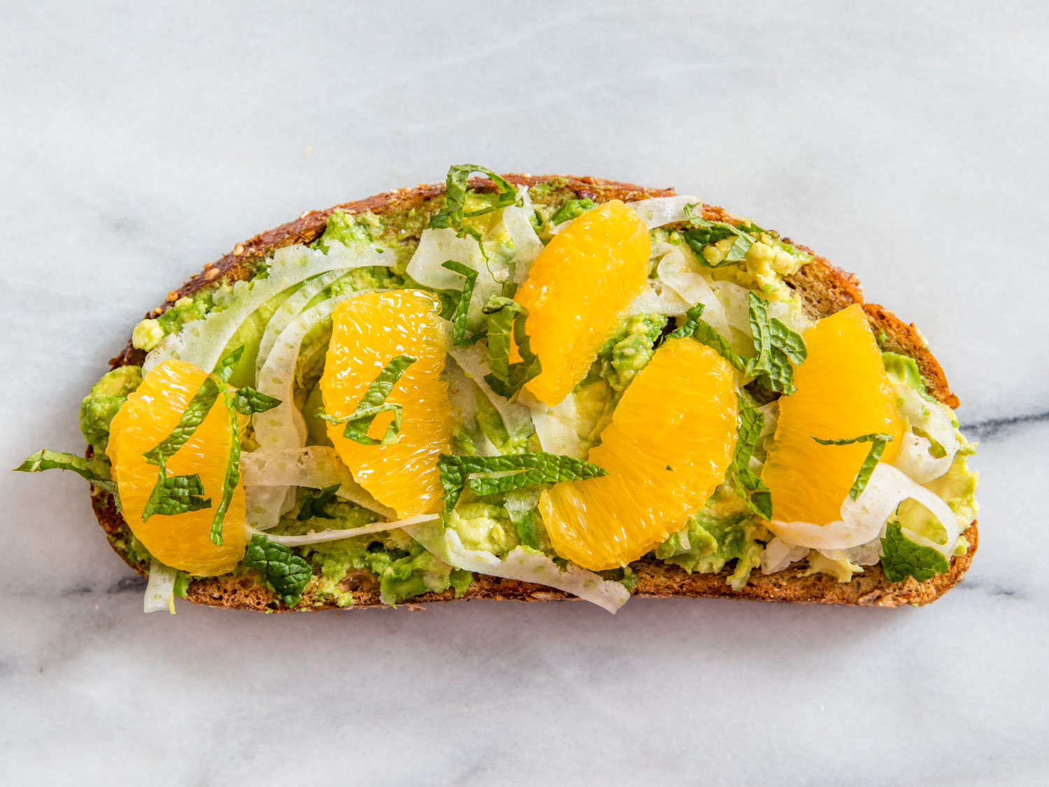 Avocado Toast With Citrus Suprèmes and Slivered Fennel Recipe