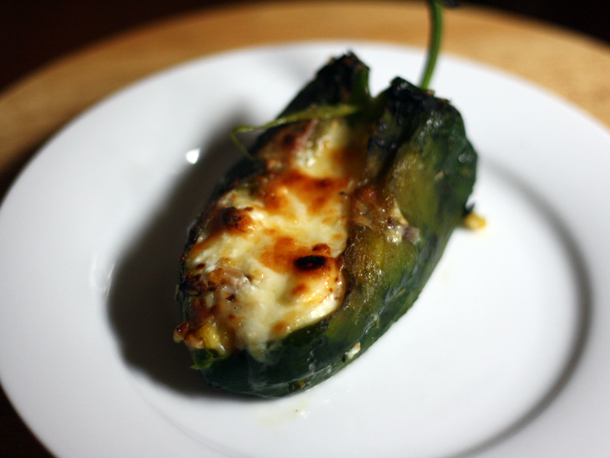 Baked Chile Rellenos with Corn and Crema Recipe