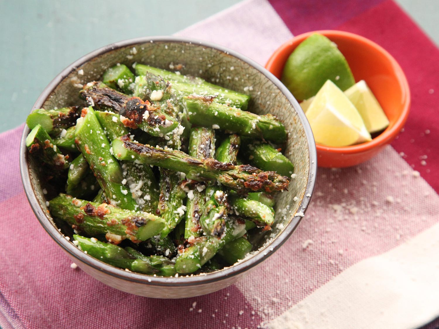 Broiled Asparagus With Cotija Cheese Recipe