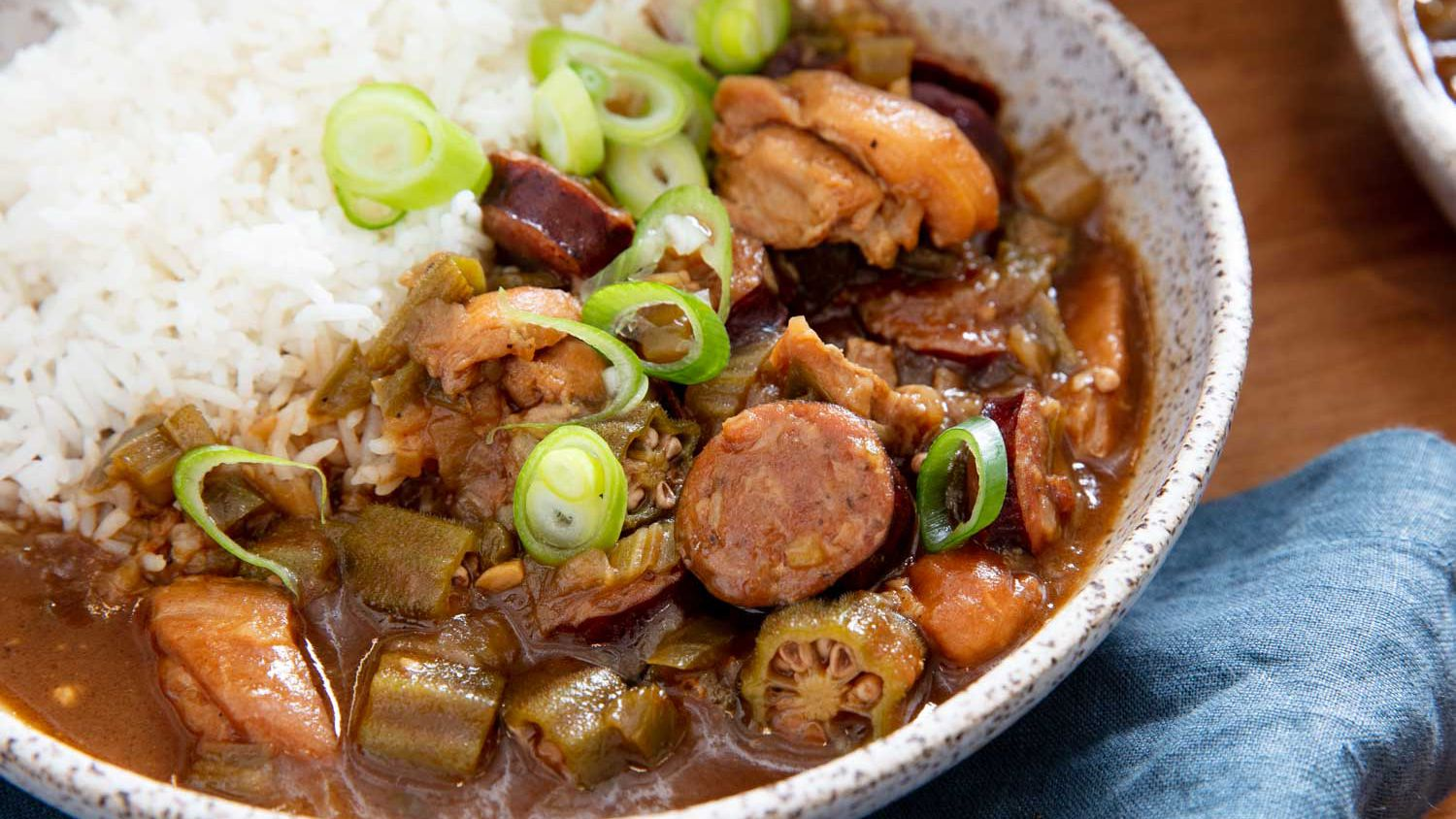 Cajun Gumbo With Chicken and Andouille Sausage Recipe
