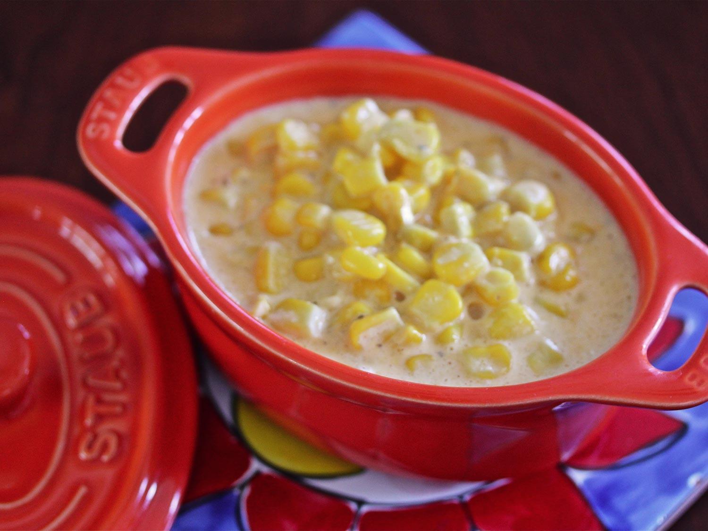 Cheesy Slow-Cooker Creamed Corn Recipe