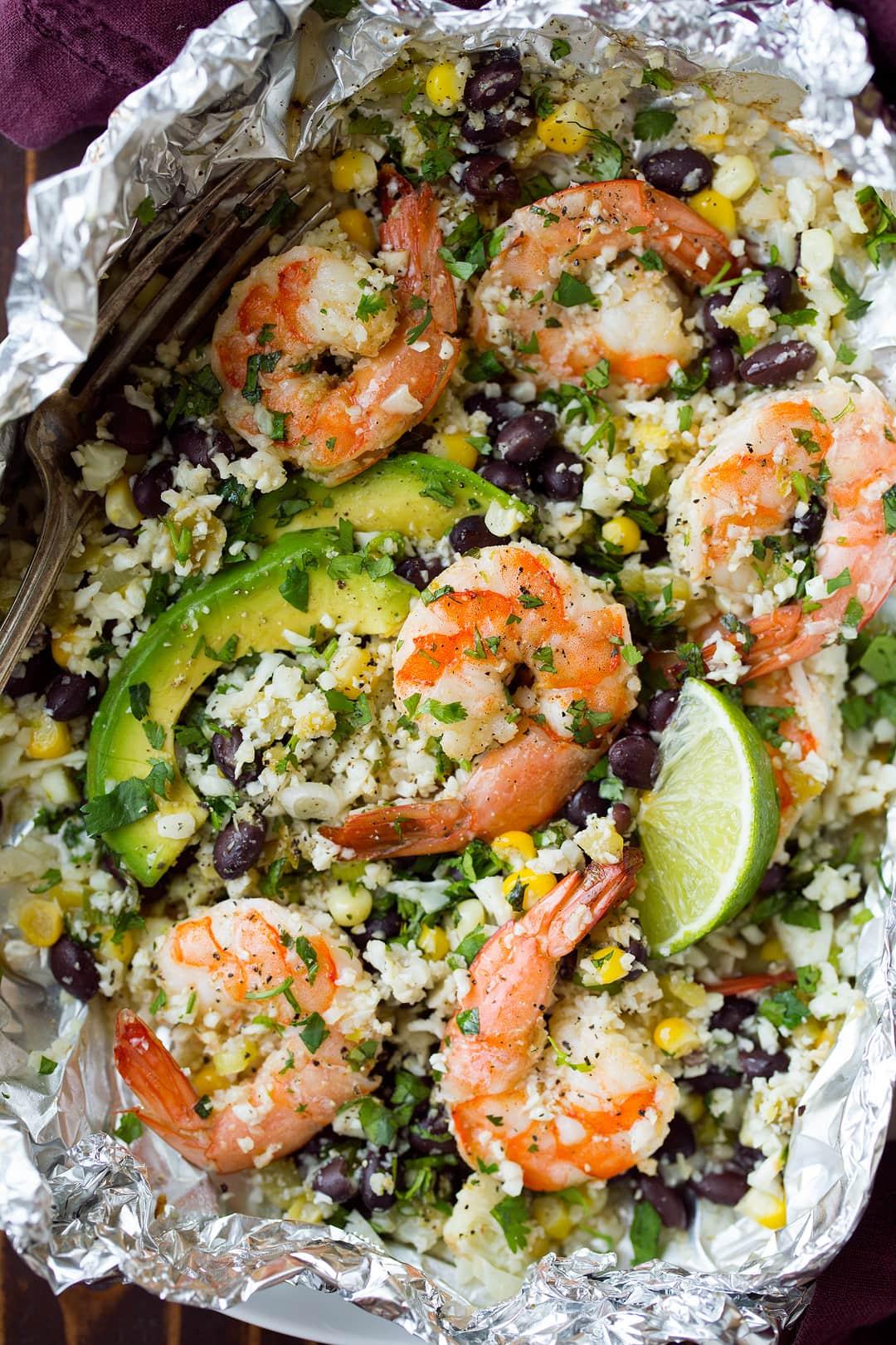 Cilantro Lime Shrimp and Cauliflower