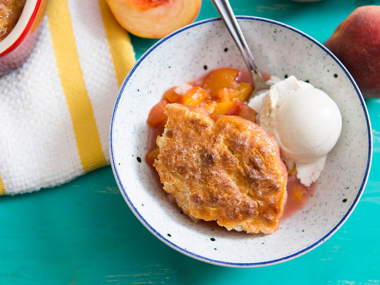 Classic Biscuit-Topped Peach Cobbler Recipe