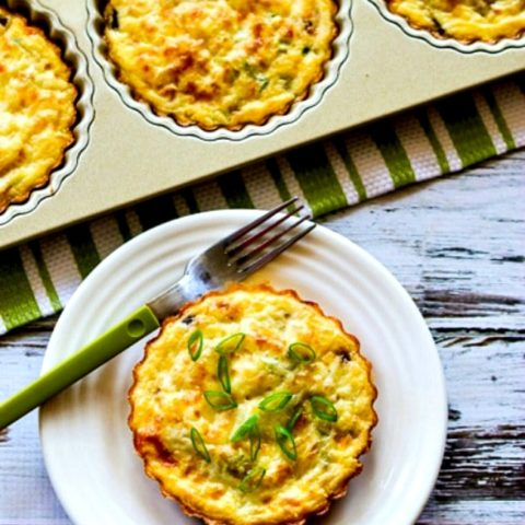 Crustless Breakfast Tarts with Mushrooms and Goat Cheese