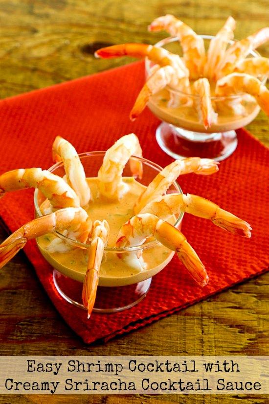Easy Shrimp Cocktail with Creamy Sriracha Cocktail Sauce