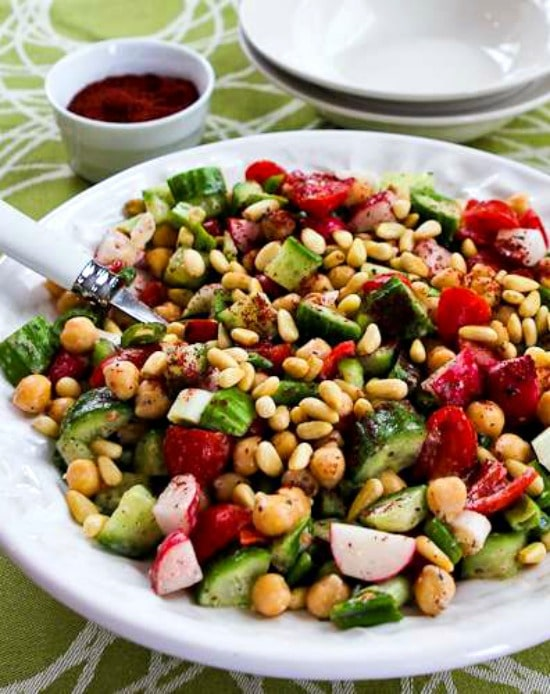 Fattoush-Inspired Chopped Salad with Tahini-Buttermilk Dressing and Sumac