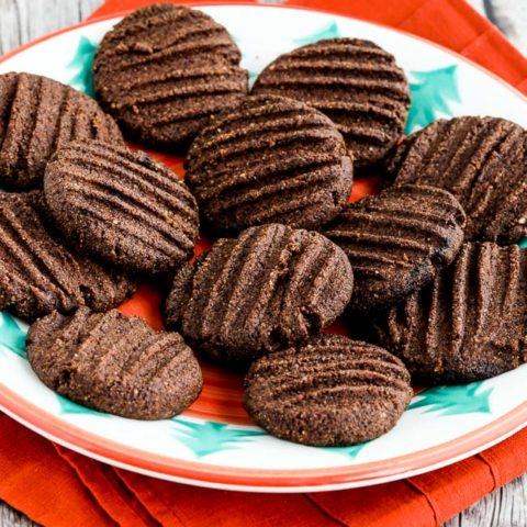 Flourless Sugar-Free Chocolate Shortbread Cookies