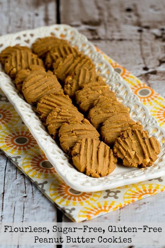 Flourless, Sugar-Free, Gluten-Free Peanut Butter Cookies