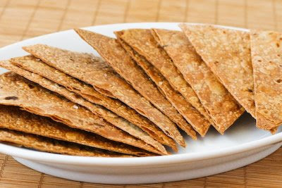 Gluten-Free and Whole Grain Baked Brown Rice Tortilla Chips