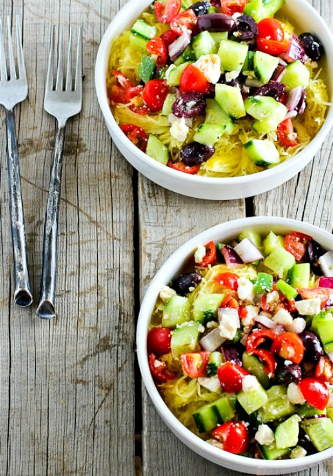 Greek Salad Spaghetti Squash Bowl
