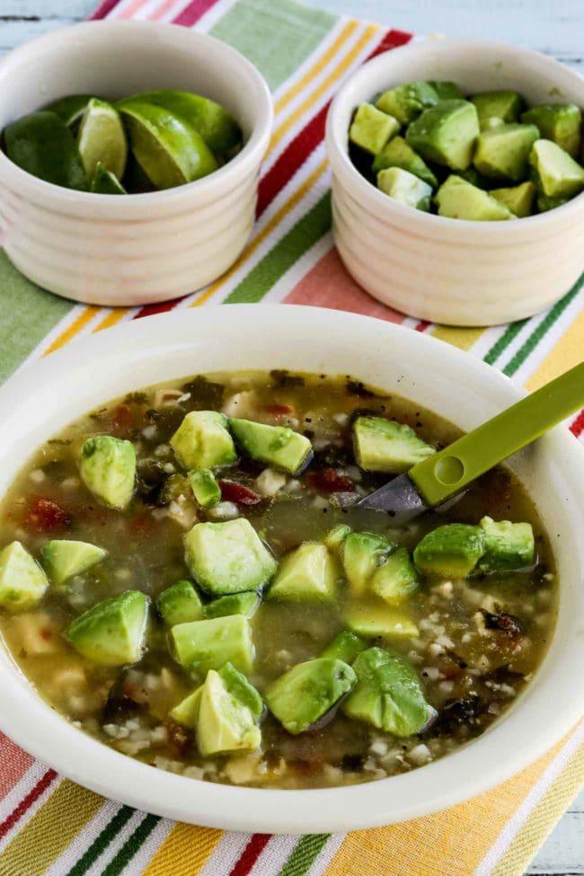 Instant Pot Low-Carb Chicken Tomatillo Soup
